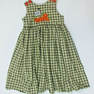 Jacobs Ladder Bishop Dress Punkin Patch Fall Plaid